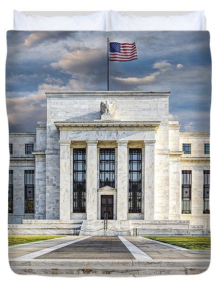 The US Federal Reserve Board Building Duvet Cover by Susan Candelario