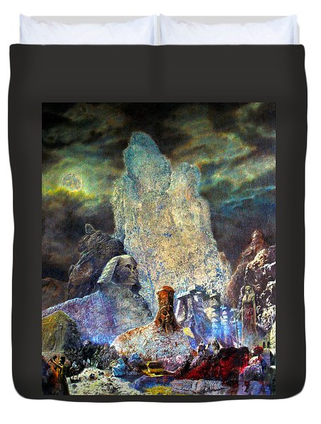 The Valley Of Sphinks Duvet Cover by Henryk Gorecki