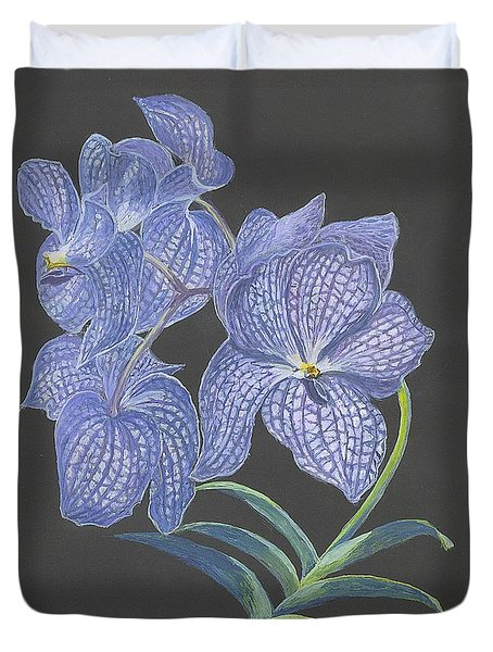 The Vanda Orchid Duvet Cover by Carol Wisniewski