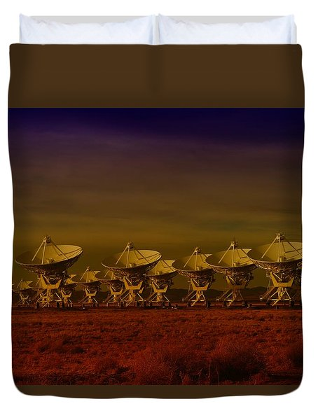 The Very Large Array In New Mexico Duvet Cover by Jeff  Swan