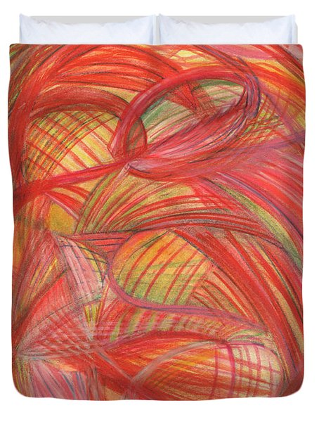 The Voice Of Daring-vertical Duvet Cover by Kelly K H B