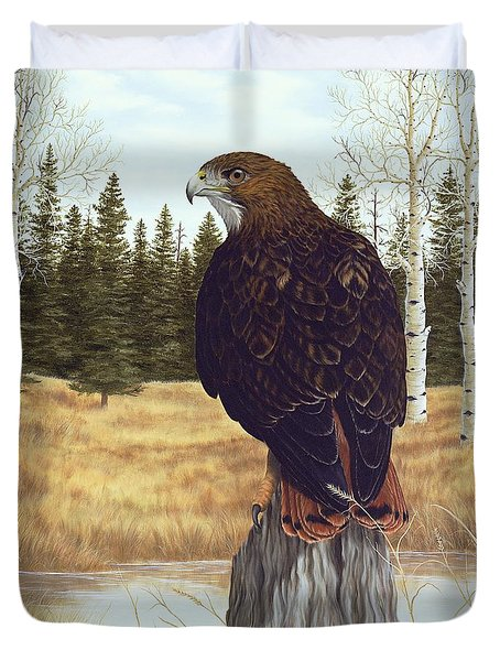 The Watchful Eye Duvet Cover by Rick Bainbridge