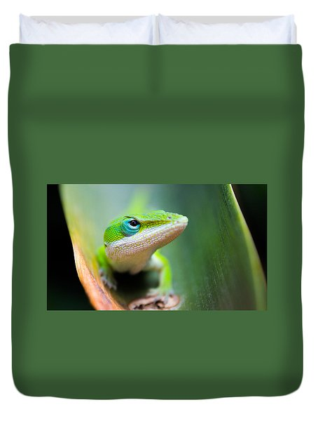 The Watching Eye Duvet Cover by Shelby  Young