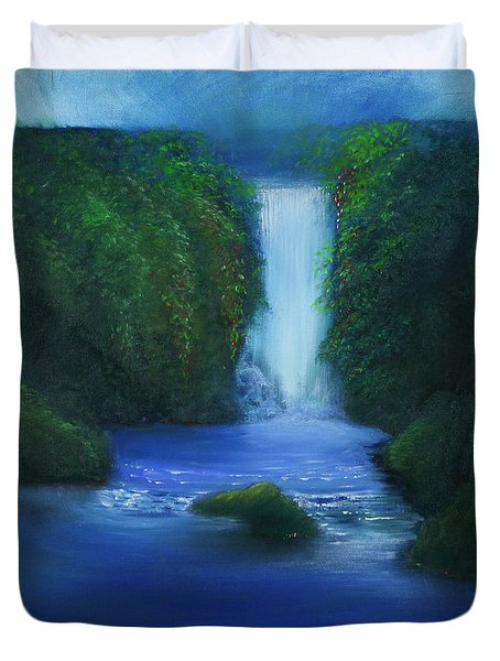 The Waterfall Duvet Cover by David Kacey
