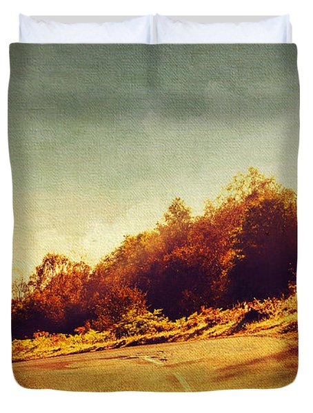 The Way Down. Trossachs National Park. Scotland Duvet Cover by Jenny Rainbow