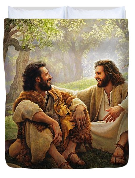 The Way of Joy Duvet Cover by Greg Olsen