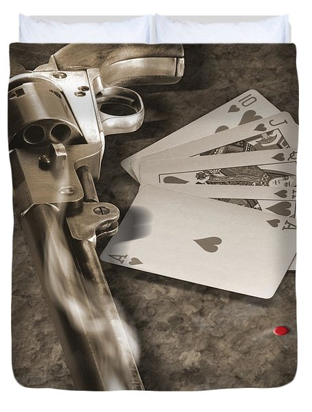 The Way of the Gun 2 Duvet Cover by Mike McGlothlen