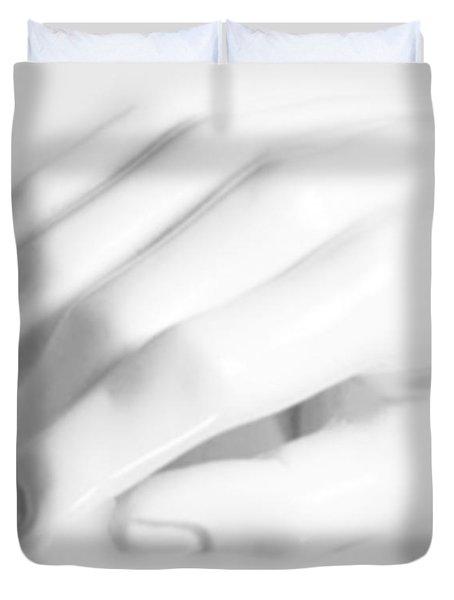 The White Hand Duvet Cover by Tony Rubino