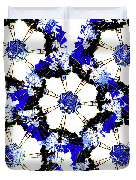 The Windmills Of My Mind Bouquet Duvet Cover by Andee Design