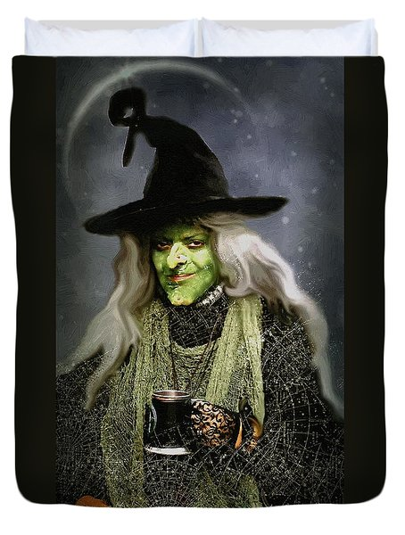 The Witch Of Endor As A Cavalier Duvet Cover by RC deWinter