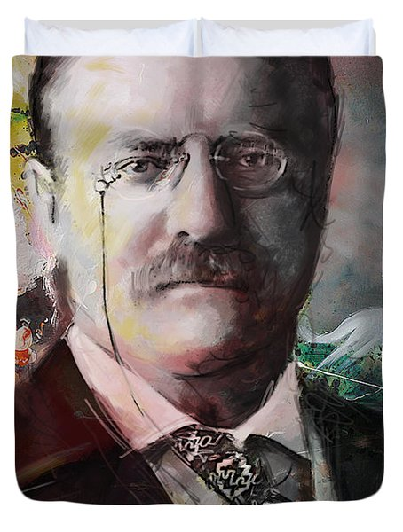 Theodore Roosevelt Duvet Cover by Corporate Art Task Force