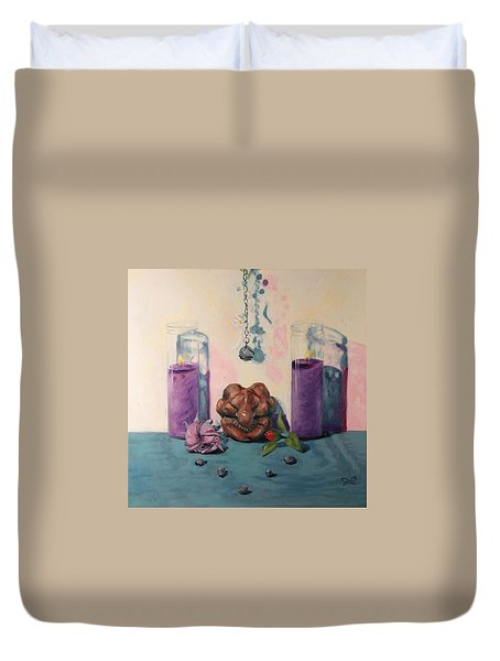 They Are Gone We Are Here Duvet Cover by Shelley  Irish