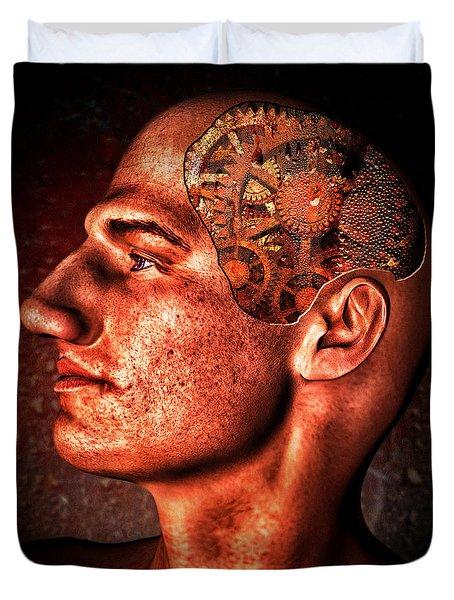 Thinking Man Duvet Cover by Bob Orsillo
