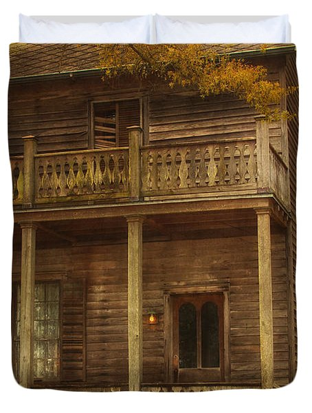 This Old House Duvet Cover by Kim Hojnacki