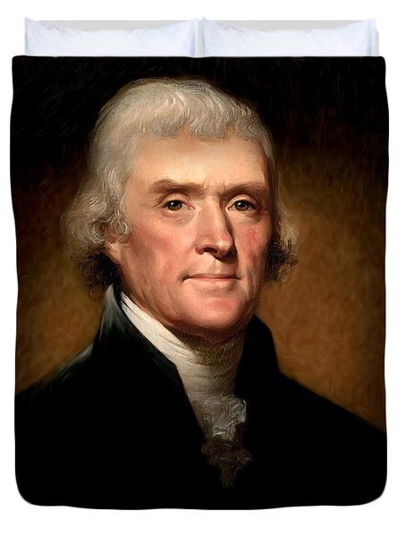 Thomas Jefferson by Rembrandt Peale Duvet Cover by Digital Reproductions