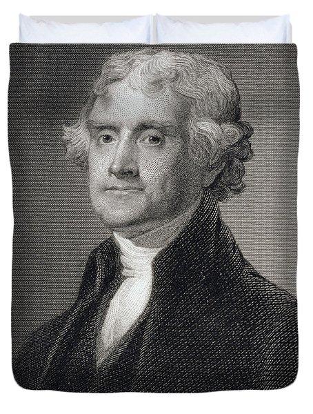 Thomas Jefferson Duvet Cover by Gilbert Stuart