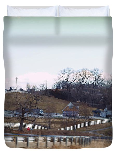 Thoroughbred Thoroughfares Duvet Cover by Paulette B Wright