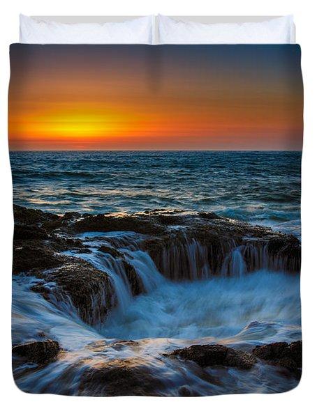 Thor's Well Duvet Cover by Rick Berk