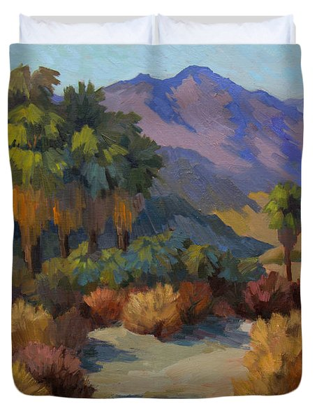 Thousand Palms Duvet Cover by Diane McClary