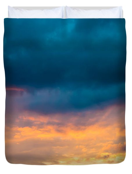 Threatening Skies At Sunset Duvet Cover by Optical Playground By MP Ray