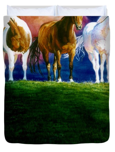 Three Amigos Duvet Cover by Hanne Lore Koehler