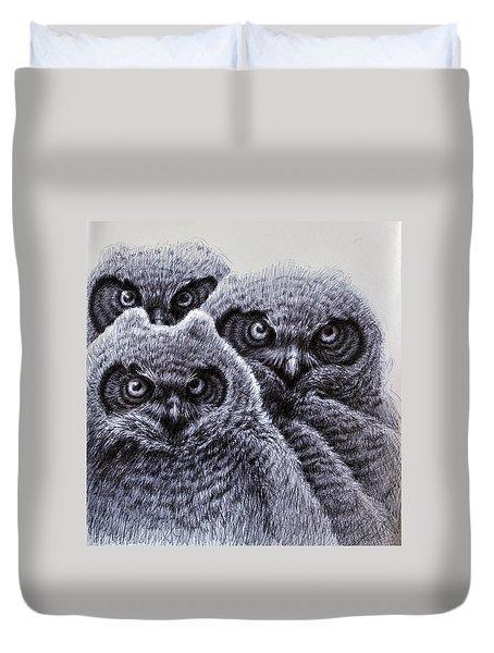Three Amigos Duvet Cover by Rick Hansen