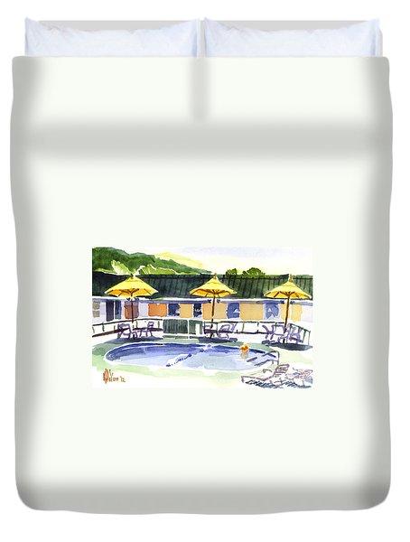 Three Amigos With Orange Beach Ball Duvet Cover by Kip DeVore