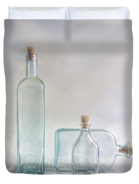 Three Bottles Duvet Cover by Veikko Suikkanen