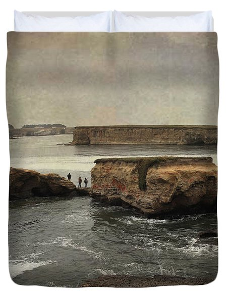 Three Fishermen Duvet Cover by Laurie Search