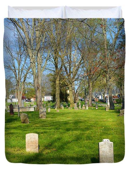 Three Gravestones Duvet Cover by Alys Caviness-Gober