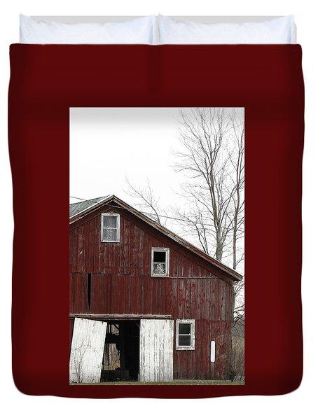 Three Windows Duvet Cover by Debbie Finley