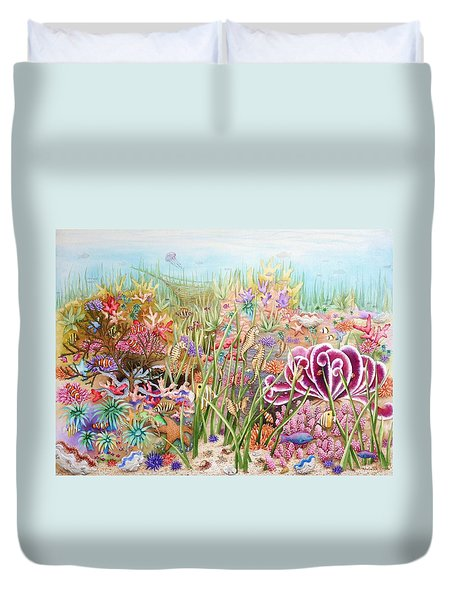 Thriving Ocean  Duvet Cover by Katherine Young-Beck