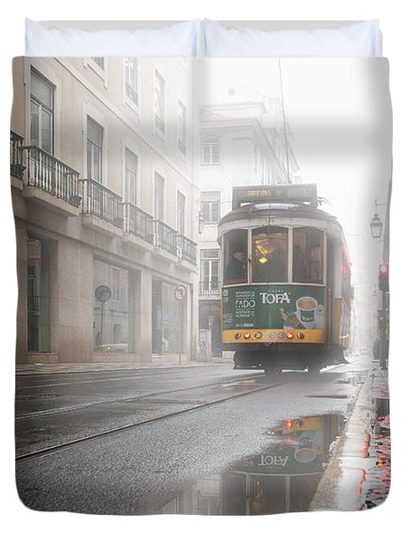 Through The Fog Duvet Cover by Jorge Maia
