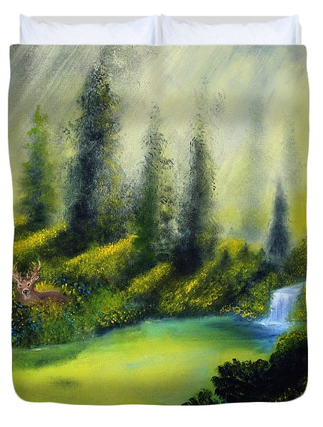 Through The Trees Duvet Cover by David Kacey