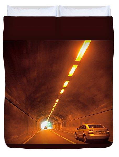 Thru The Tunnel Duvet Cover by Karol  Livote