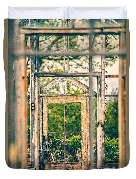 Thru Times Window Duvet Cover by Karol Livote
