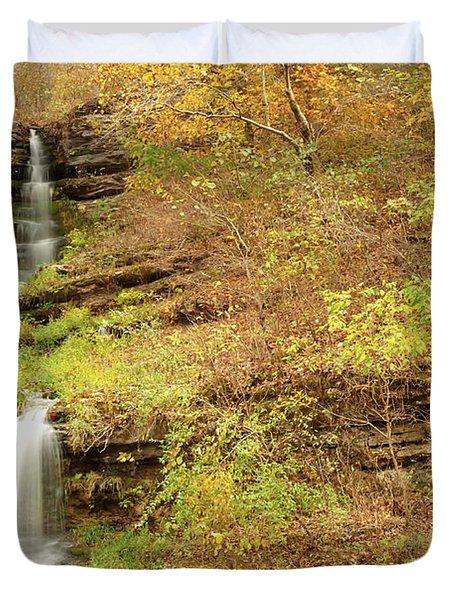 Thunder Falls Duvet Cover by Gregory Ballos