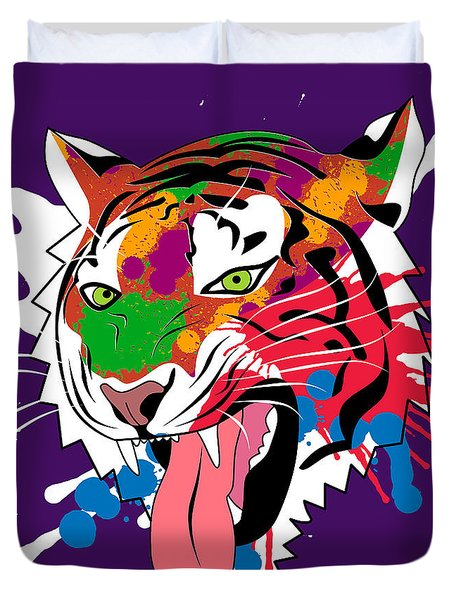 Tiger 11 Duvet Cover by Mark Ashkenazi