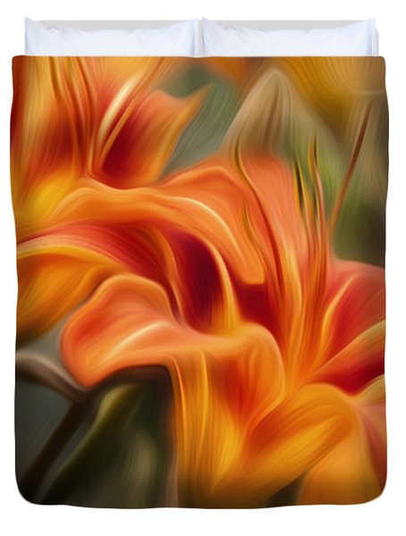 Tiger Lily Duvet Cover by Bill  Wakeley