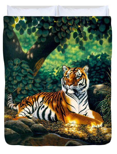 Tiger Duvet Cover by MGL Studio - Chris Hiett