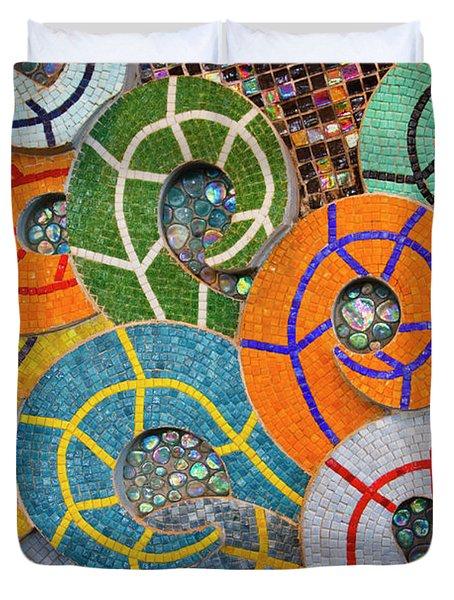 Tiled Swirls Duvet Cover by Adam Romanowicz