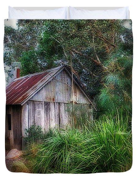 Timber Shack Duvet Cover by Kaye Menner