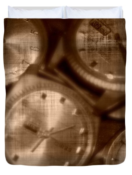 Time After Time Duvet Cover by Barbara S Nickerson