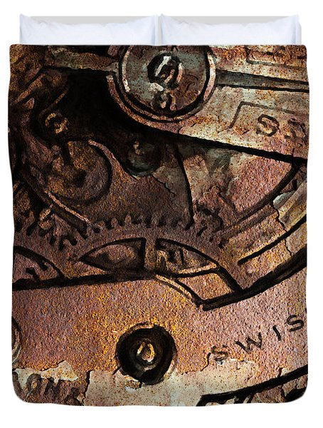 Time In Abstract 20130605rust Duvet Cover by Wingsdomain Art and Photography