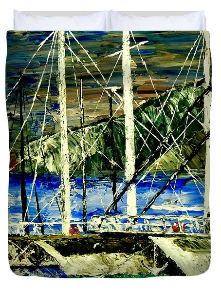 Time To Sail  Duvet Cover by Mark Moore