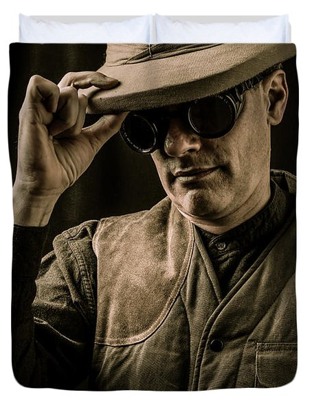 Time Traveler Duvet Cover by Edward Fielding