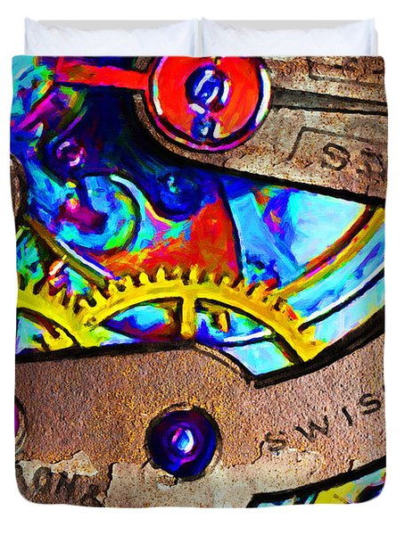 Time Waits For Nobody 20130605 Duvet Cover by Wingsdomain Art and Photography