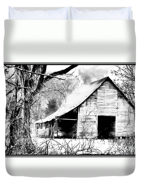 Timeless In Black And White Duvet Cover by Betty LaRue