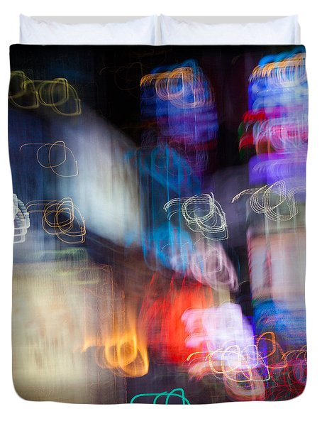 Times Square Duvet Cover by Dave Bowman