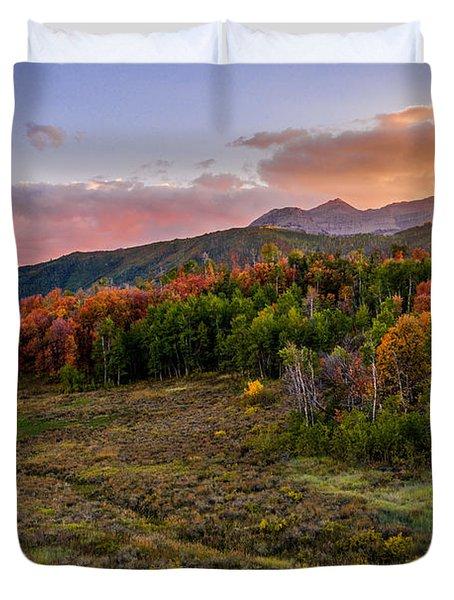 Timp Fall Glow Duvet Cover by Chad Dutson